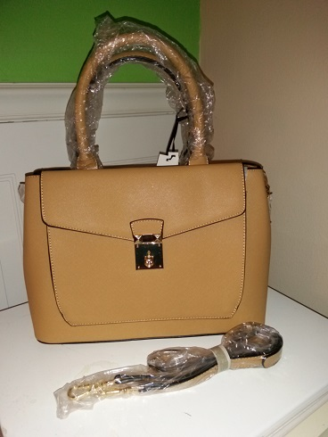Caramel Handbag with strap