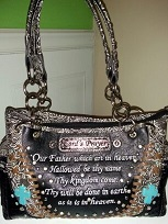 The Lords Prayer Handbag- Black