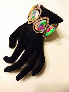 Shades of color diamond bracelet