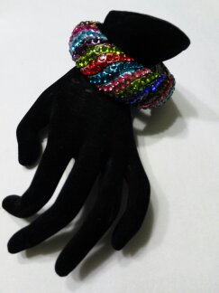 Rainbow diamond bracelet