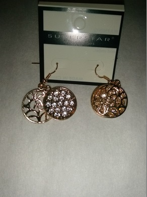 Gold diamond sparkle earrings