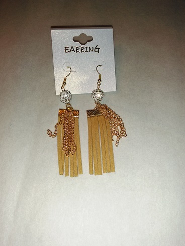 Tassel earrings-caramel