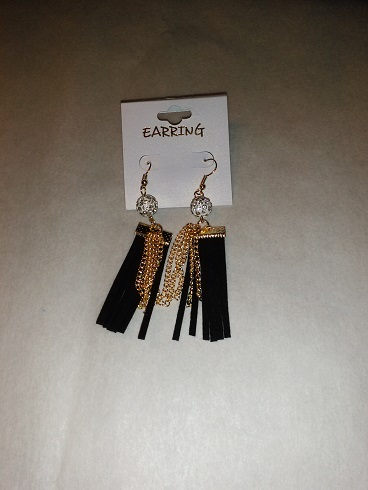 Tassel earrings -black