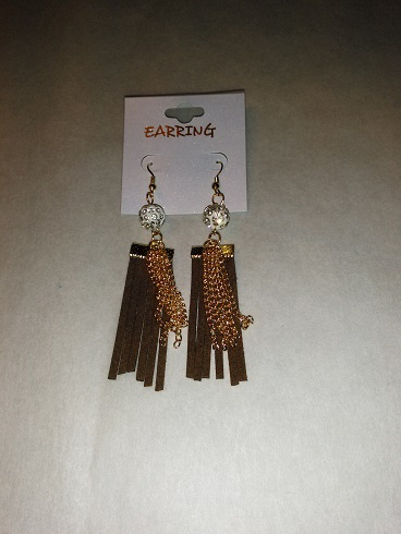 Tassel earrings-chocolate