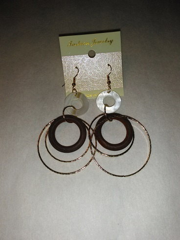 Circle hoops-dark brown