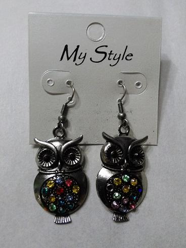 Silver multi owls