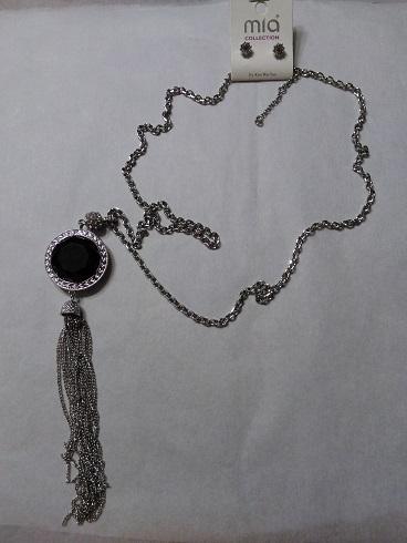 Tasell reversible/black and white long set