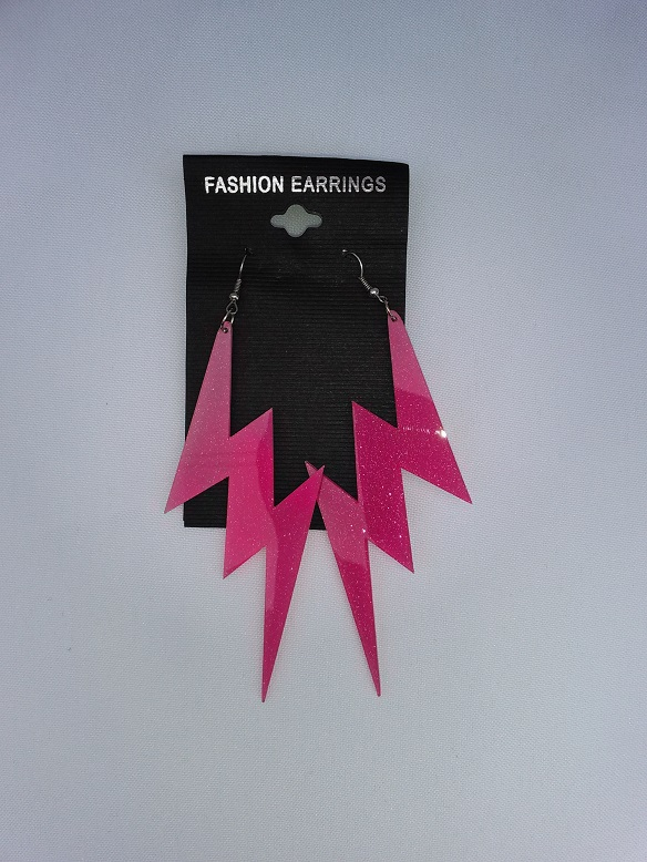 Lightening bolt pink