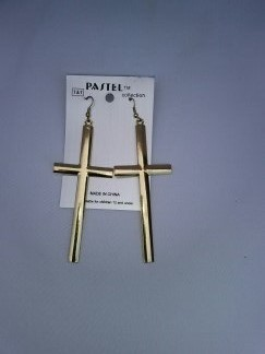 Large gold crosses