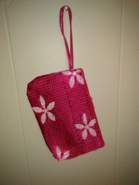 Flower pouch-pink