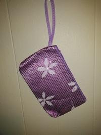 Flower pouch-purple