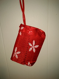Flower pouch-red