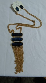 Gold/blue chain set