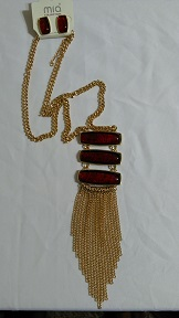 Gold chain red set