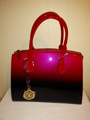 Patent red w/strap