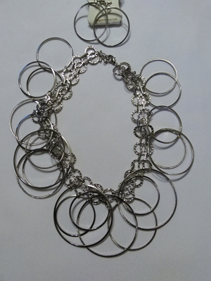 Silver circle set
