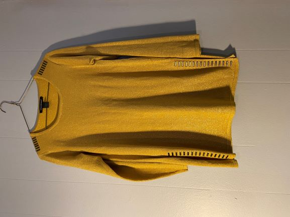 Gold sparkle sweater w/ splits