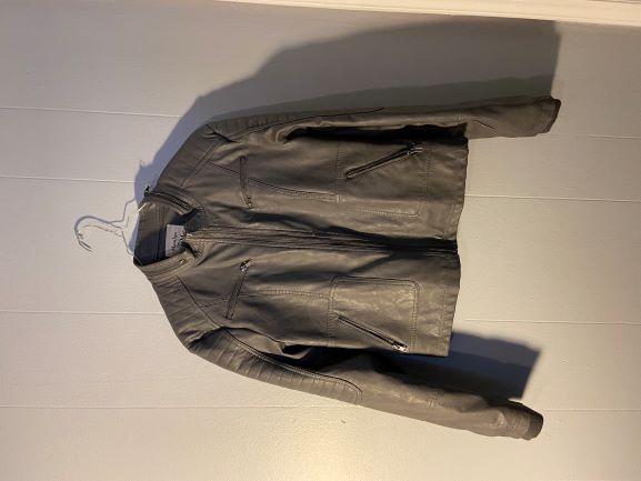 Gray Faux Jacket