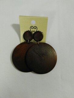 Wooden circles chocolate