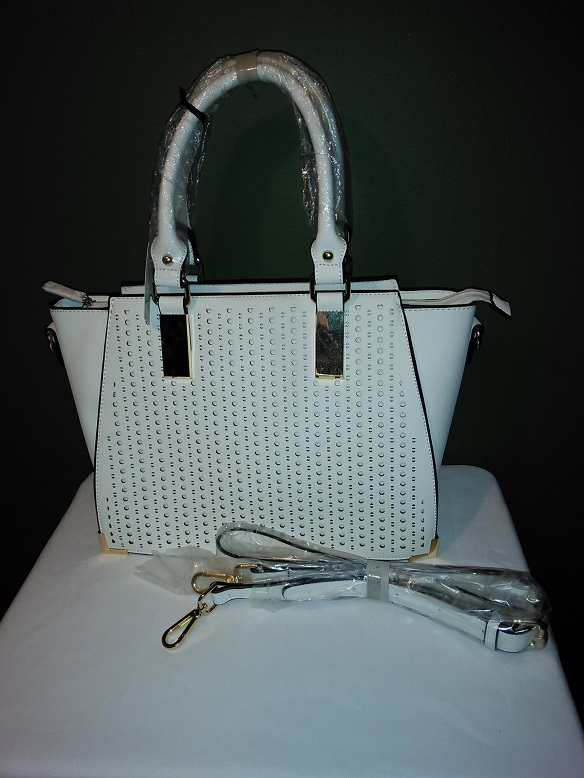 White fancy w/strap