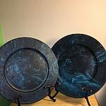 Blue/Black decor plate