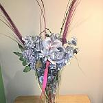 Silver flowers in a vase