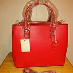 Vegan Red Satchel Handbag