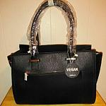 Vegan Black Satchel Handbag