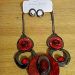 Circles of Red Necklace set