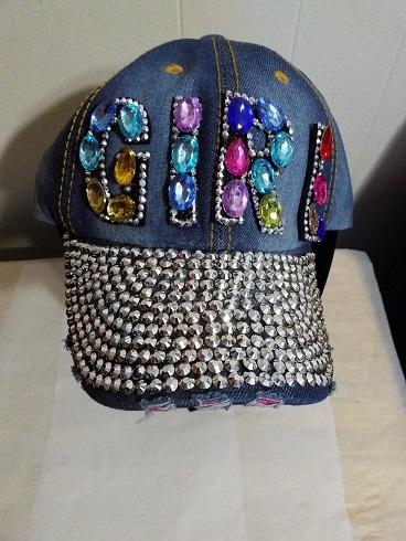 GIRL Cap Denim multi stones