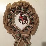 Burlap Reindeer Wreath
